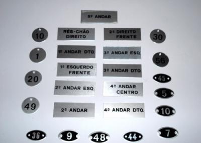 Placas de Andares Numeradas em Alumínio